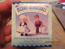 Hallmark Merry Miniature Park Avenue Wendy & Alex The Bellhop Mib