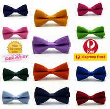 MEN BOW TIE Plain texture Pre-tied Necktie Party Wedding Pageboy High Quality