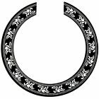 Sound hole Rose Decal Sticker for Acoustic Classical Guitar Parts Black+SilvD2Q1 for sale