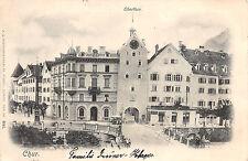 AK Chur Schweiz Oberthor Strassenansicht Postkarte 1902