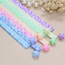 30Pcs Luminous Iron Tower Origami Lucky Star Paper Strips Handmade Paper Folding