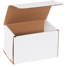 """1 SAMPLE 6x4x4 White Corrugated Shipping Mailer Packing Box Boxes 6"""" x 4"""" x 4"""""""