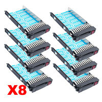 "Lot of 8pcs,2.5"" Hard Drive Tray Caddy Sled FOR HP DL580 DL360 DL380 G4 G5 G6 G7"