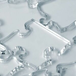 Impossible Difficult Clear Jigsaw Puzzle - Transparent Acrylic - UK Seller
