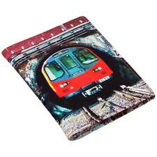 Travel Pass/Oyster Card Holder - Printed Leather  - 'Tunnel'