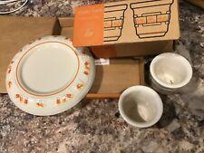 Make Offer! Longaberger candy corn votive candle pillar pottery original boxes