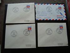FRANCE - 4 enveloppes 1er jour 16/1/1965 (blason de paris) (cy88) french
