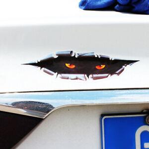 1Pc Black Car Sticker Peeking Monster Rear Trunk Bumper Window Decal Decoration