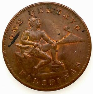 LARGE: 1944 S 1 CENT U.S. Administration PHILIPPINES UNCIRCULATED COIN KM#179 #4