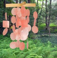 Woodstock Chimes -  Mini Capiz Chimes Coral C135 Coconut Wood & Sea Shells