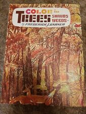 Vintage Color Trees Nature by F. Garner, Walter Foster How to Instruction Steps