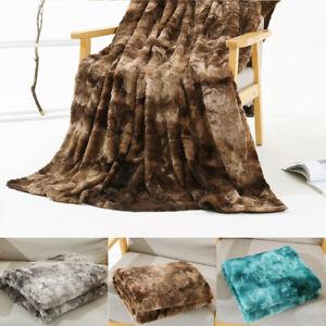 Large Shaggy Blanket Fluffy Faux Fur Soft Warm Sofa Bed Throw Fleece Bedspread
