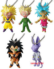 BANDAI Gashapon Dragonball UDM Burst 14 Keychain Figure set of 5 Beerus Broly