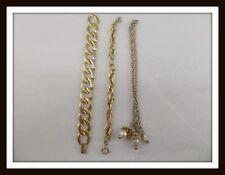Lot of 3 Vintage Gold-tone Bracelets (NAPIER & FREIRICH) #3521