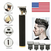 Pro Real Zero Gapped Cordless T-Outliner Clipper Electric Hair Trimmer Portable