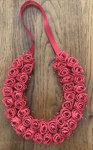 Red Handcrafted Wedding /  Ruby Anniversary Lucky Horseshoe.