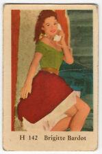 1960s Swedish Film Star Card Star H Set # 142 French Sex Symbol Brigitte Bardot