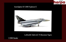 Herpa Eurofighter EF-2000 Typhoon S 1/200 Airplane Luftwaffe Bavarian Tigers MIB