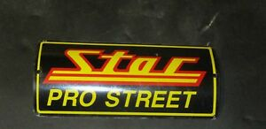 Kawasaki Dragrace Star Racing Pro Street Exhaust Badge. metal.