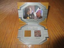 2017 Star Trek 50th Anniversary Data & Dr. Soong Dual Relic Book Card DRC1