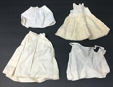 Vintage Lot 4 Cotton Doll Victorian Petticoats Skirts Slips Under Garments
