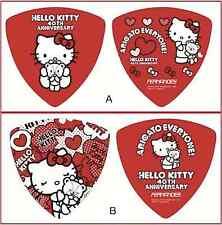 Hello Kitty Guitar Pick 40th Anniversary Sanrio Two Picks Set F/S