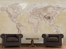 315x232cm Giant wall mural photo wallpaper Brown Political Map of the World