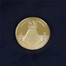 Masonic Freemasonry Freemason All-seeing Eye Pyramid Gold Coins Collection FH