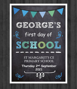 PERSONALISED BACK TO SCHOOL PICTURE FIRST DAY OF SCHOOL PRINT PHOTO PROP A4M