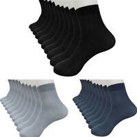8 Pairs Bamboo Fiber Ultra-thin Elastic Silky Short Silk Stockings Men Socks UK