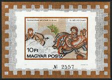 Hungary 2546 imperf. S/S, MNH. Roman Mosaic: Hercules,Centaur,Deianeira, 1978
