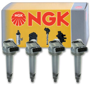 4 pc NGK Ignition Coils for 2009-2018 Toyota RAV4 2.5L L4 Spark Plug Wire fp