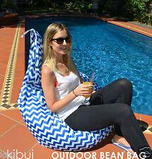 Outdoor Bean Bag Super Comfy High Back Support Anti UV 30+ Kibui 200L NEW