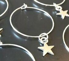 STARS WINE GLASS CHARMS x4