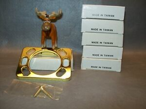 Toothbrush Holder Gold Colored Aluminum Wall Mountable with Hardware Lot of 6