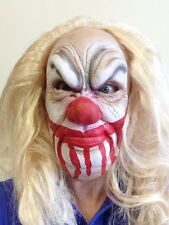Scary Clown Mask Wig Halloween Horror Latex Bloody Face IT Fancy Dress Masks