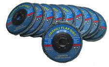 10 X ZIRCONIUM FLAP DISCS / ANGLE GRINDER 115M 120 GRIT