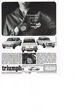 PUBLICITE  1967   TRIUMPH   LA   2000 1300