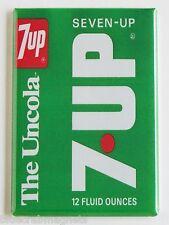 7-UP Soda FRIDGE MAGNET (2.5 x 3.5 inches) bottle label sign seven crate