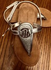 NWT Toddler Girls TOMMY HILFIGER Size 11 Sandals Silver Sparkle NEW