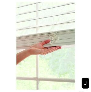 """New, Better Homes & Gardens 2-inch Cordless Faux Wood Blinds, White. 36""""W x 64""""L"""