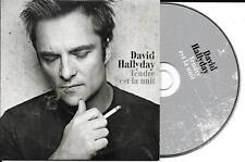 CD CARTONNE CARDSLEEVE COLLECTOR DAVID HALLYDAY 1T TENDRE EST LA NUIT(MIOSSEC)