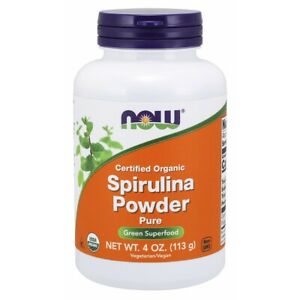 Now Foods Organic Spirulina Powder - 4 oz FRESH, FREE SHIPPING, MADE IN USA