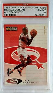 1997 UD Collector's Choice Factory Michael Jordan All Starquest PSA 10!