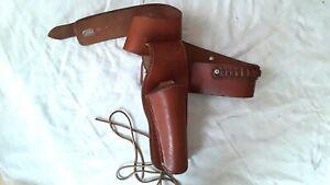 Vtg Bucheimer Leather Colt Revolver Pistol Holster ML.8&Ammo Cartridge Belt 80 M