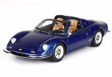 Ferrari Dino 246 Gts Spider 1969 Blue Metallizzato BBR 1:43 BBRC54G
