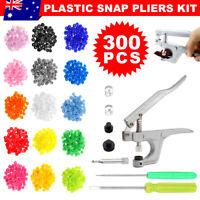 Snap Pliers + 300 Sets T5 Size Snap Buttons Resin Plastic Fastener Press Stud AU