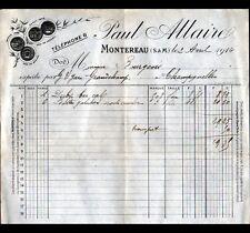 """MONTEREAU (77) USINE de CHAUSSURES / MODE """"Paul ALLAIRE"""" en 1914"""