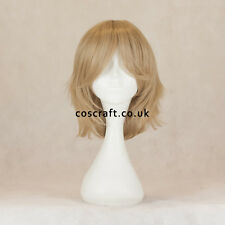 Medium flick cosplay costume wig in sandy blonde, UK SELLER, Ash style