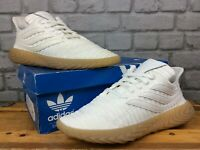 ADIDAS MENS UK 7 EU 40 2/3 SOBAKOV WHITE KNIT  GUM SOLE TRAINERS RRP £100     E